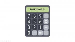 foto rekenmachine met de tekst smartengeld in het scherm