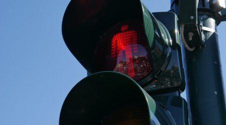 verkeerslicht voetganger rood