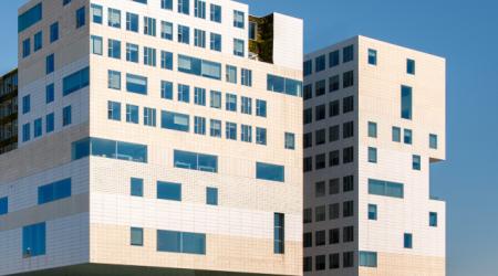 gebouw van het paleis van justitie in Amsterdam