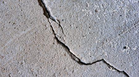 scheur in beton